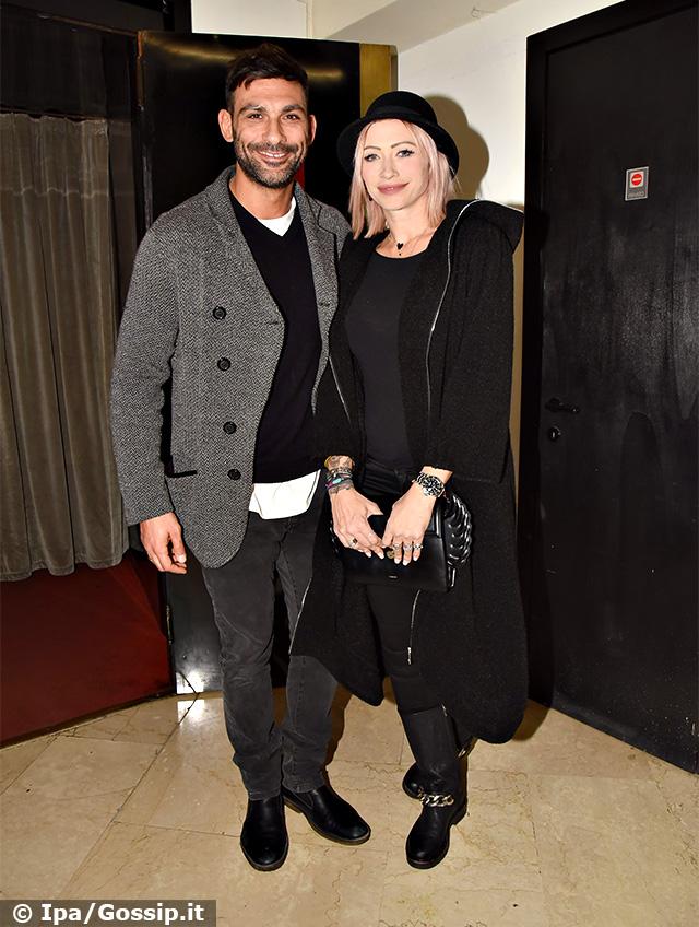 Francesco Arca, 40 anni, e Irene Capuano, 41, al teatro Sistina di Roma per la prima del musical 'The Full Monty'