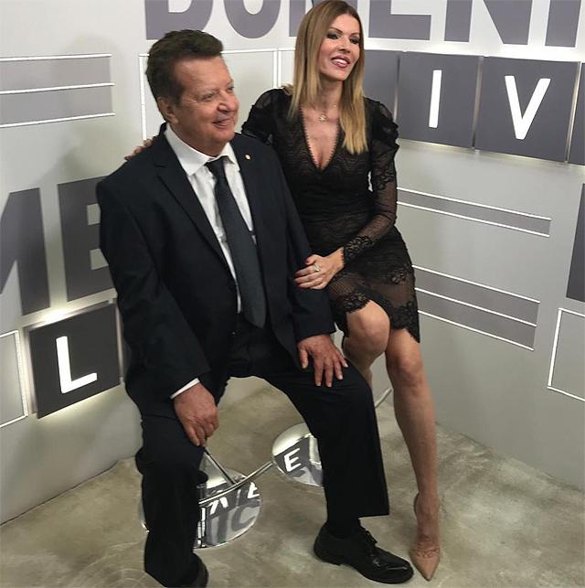Vittorio Cecchi Gori, 77 anni, con l'ex moglie Rita Rusic, 59