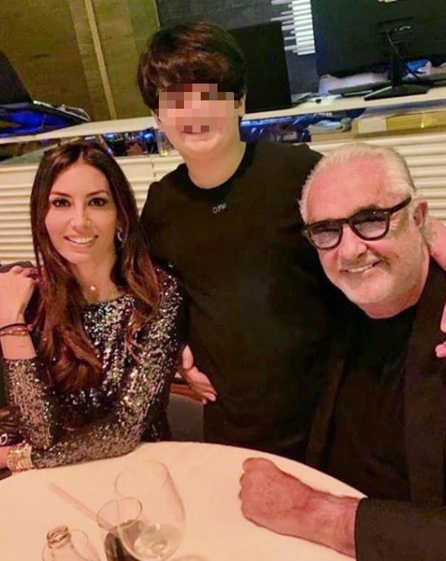 Briatore con l'ex moglie Elisabetta Gregoraci, 40 anni, e loro figlio Nathan Falco, 10