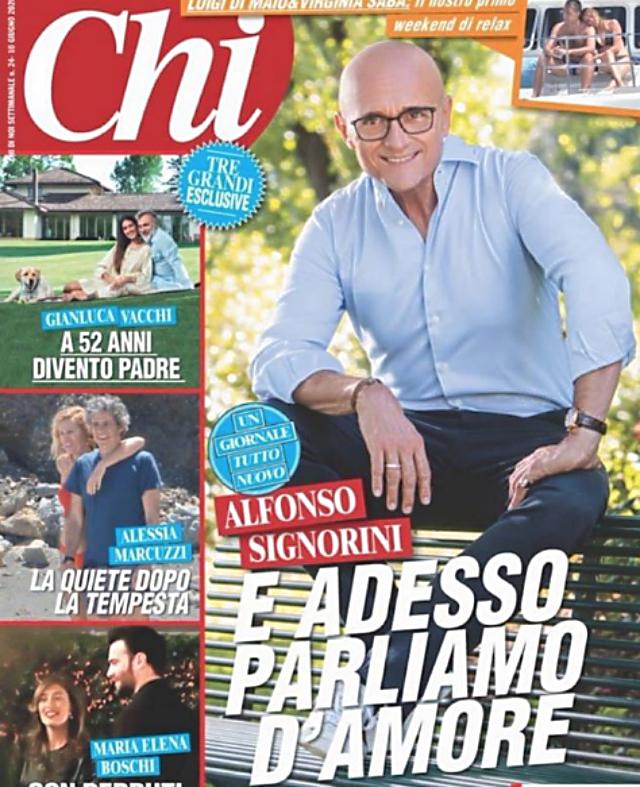Il nuovo numero di 'Chi' con Alfonso Signorini, direttore della rivista, in copertina