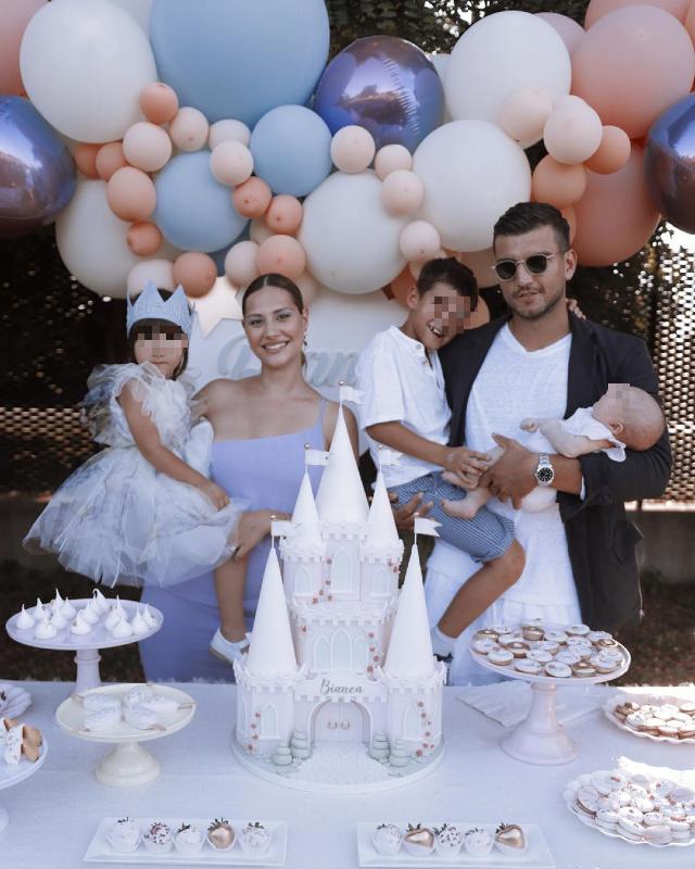 Beatrice Valli e Marco Fantini, festa di compleanno a tema Frozen per i 3 anni della figlia Bianca