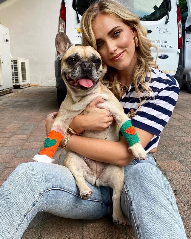 Chiara Ferragni rinuncia alla vacanza per stare con il cane malato: ecco come sta Matilda