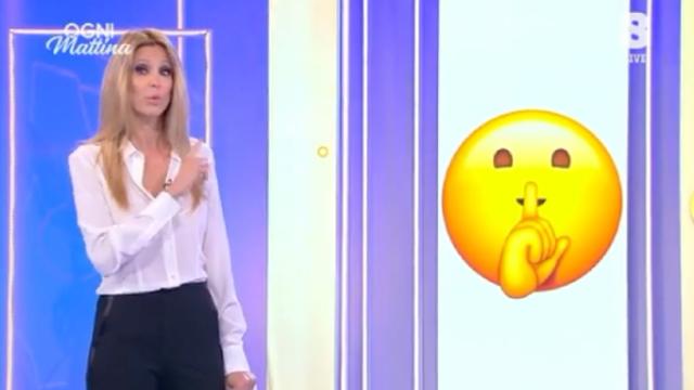 Adriana Volpe, 47 anni, replica per le rime a Giancarlo Magalli durante l'apertura della nuova puntata di 'Ogni Mattina'