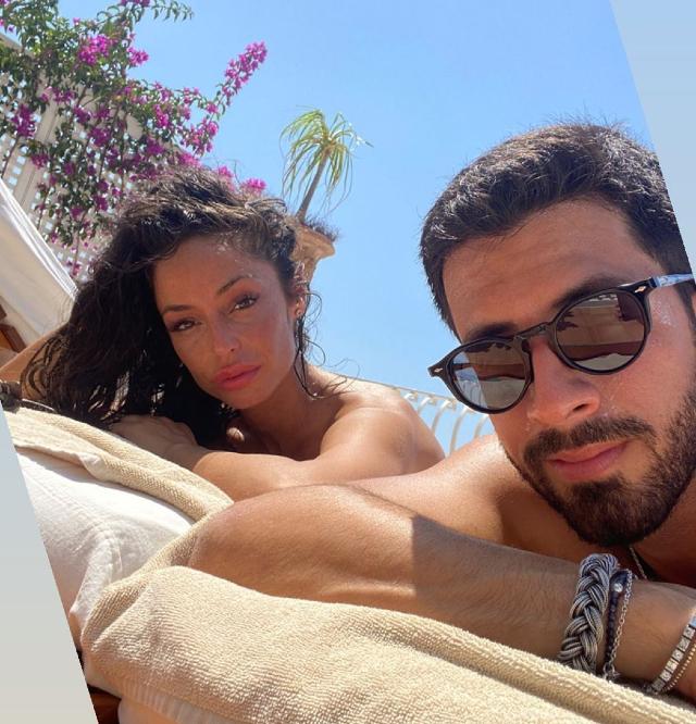 Raffaella Fico, 32 anni, e Giulio Fratini, 28: la prima foto social è da Positano