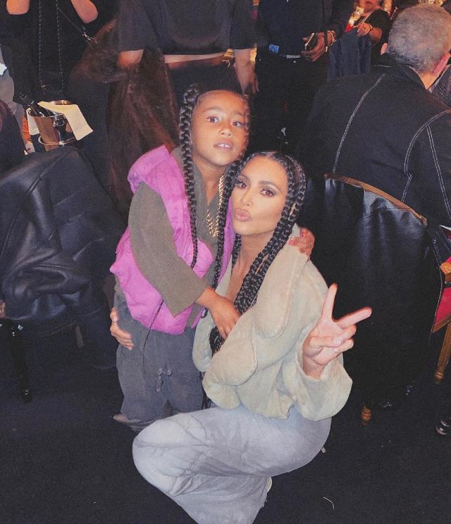 Kim con la figlia North, 7 anni