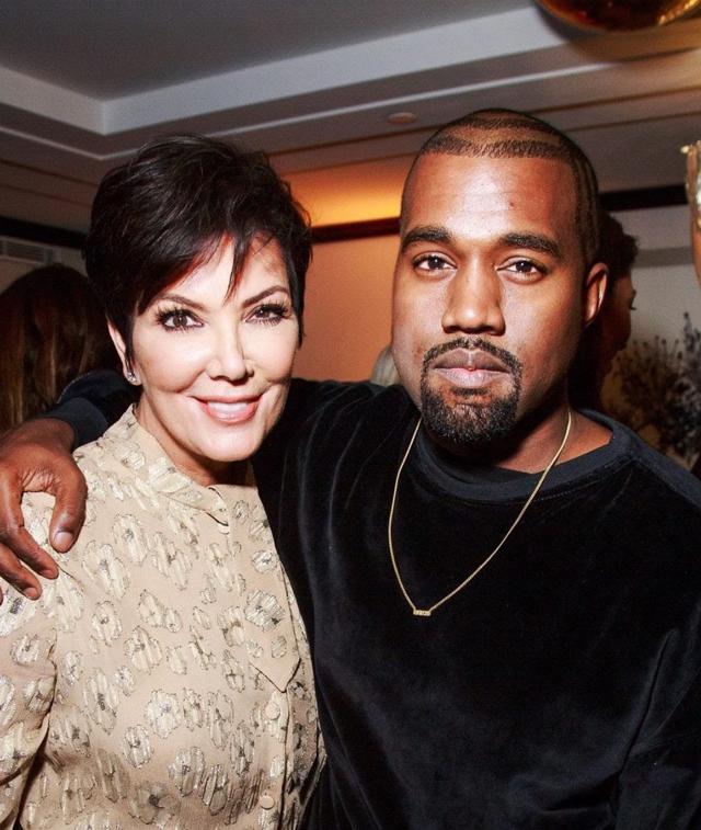 Kanye con la suocera Kris Jenner, 68 anni
