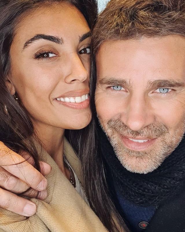 Fabio Fulco, 50 anni, con la nuova compagna Veronica Papa, 25
