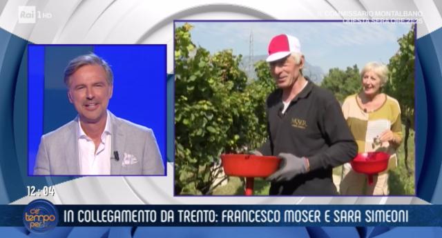 Francesco Moser a 'C'è tempo per...' parla del figlio e Cecilia Rodriguez