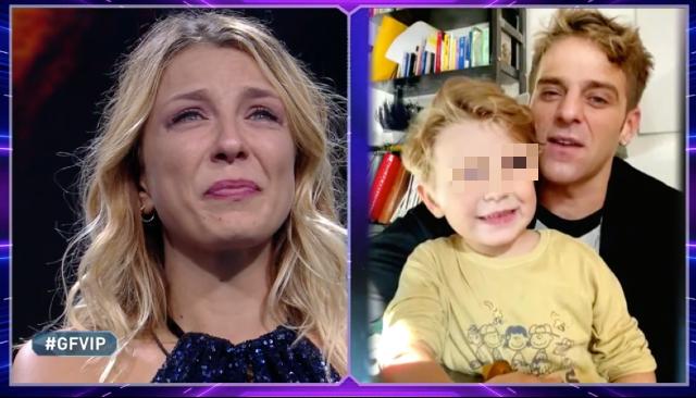 Myriam Catania in lacrime per il videomessaggio del compagno e del figlio