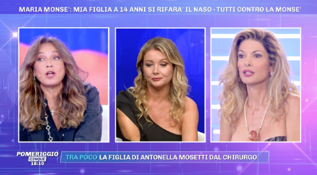 Maria Monsè, annuncio choc: 'Mia figlia farà il rinofiller a 14 anni'