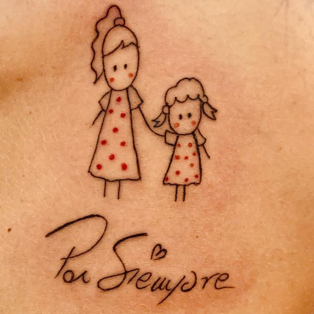 Quale vip si è tatuata questo disegno in onore della nipotina? Ecco la risposta