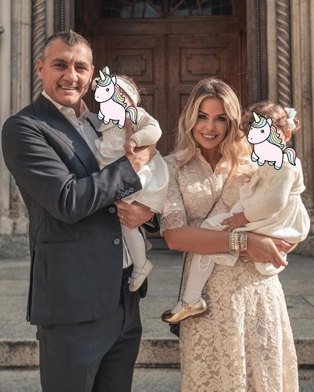 Costanza Caracciolo e Bobo Vieri, il battesimo della figlia Isabel: foto