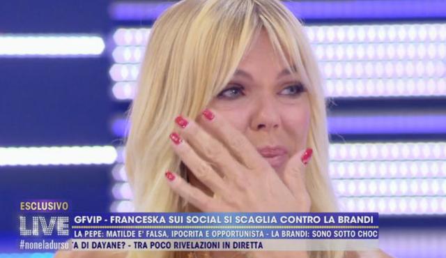 Matilde Brandi implora in lacrime Franceska Pepe: lei è senza pietà