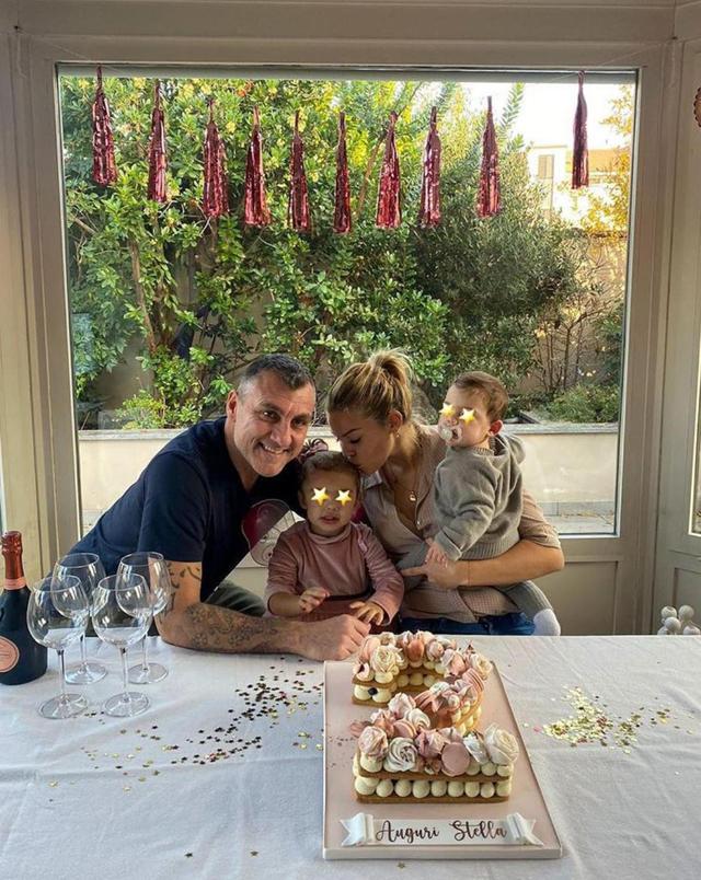 Costanza Caracciolo e Bobo Vieri festeggiano i 2 anni della figlia Stella: foto