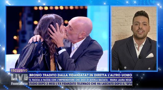 Il giornalista 64enne'limona con la baby Maria Laura De Vitis in