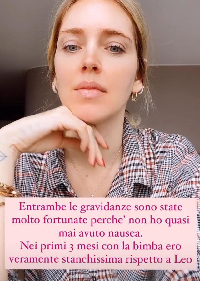 Nausea, stanchezza e reflusso: Chiara Ferragni parla della seconda gravidanza