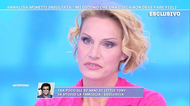 Annalisa Minetti: 'Potrei riavere la vista grazie a mia figlia'
