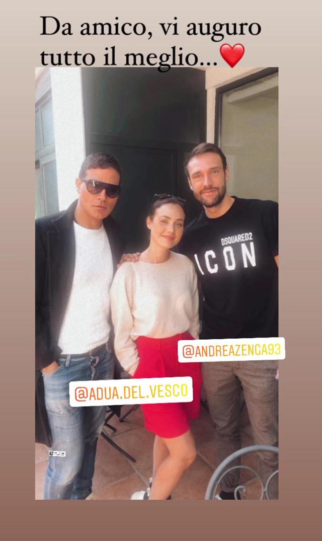 Gabriel Garko felice del rapporto nato tra Rosalinda Cannavò e Andrea Zenga: foto con loro