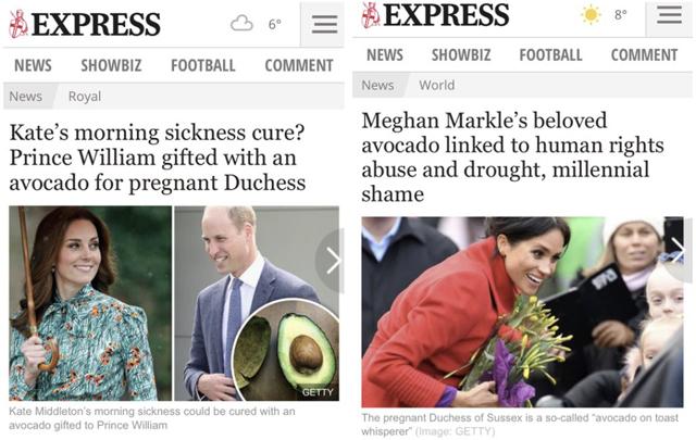 Un altro tabloid, il Daily Express, sfiora il ridicolo nel tentativo di esaltare la futura regina e contemporaneamente di gettare ombre sulla moglie di Harry, straniera e afroamericana