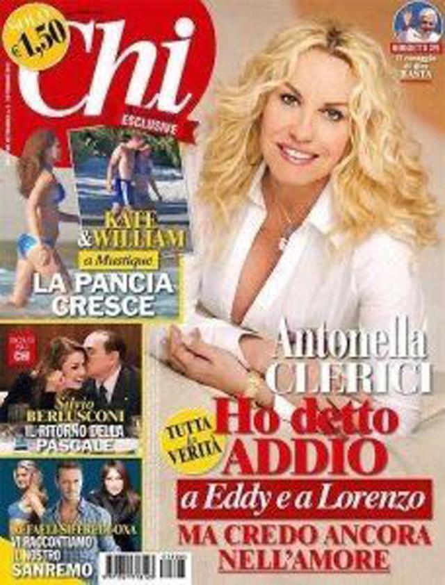 La copertina di 'Chi' del 2013 con, in alto a sinistra, il lancio del servizio sulla vacanza di William e Kate ai Caraibi