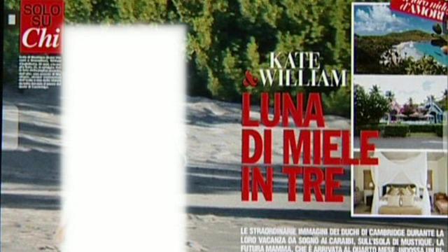 Ecco come ha 'sbianchettato' la BBC le pagine del settimanale 'Chi' per non mostrare William e Kate in spiaggia in costume