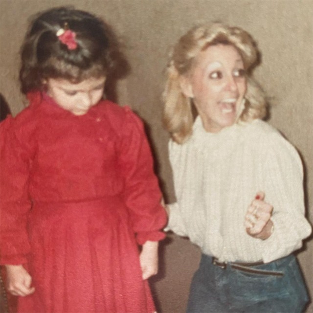 Elisa as a child with her aunt Dani