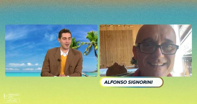 Alfosno Signorini, 57 anni, rivela a Tommaso Zorzi che sarà ancora lui il conduttore del 'Grande Fratello Vip'