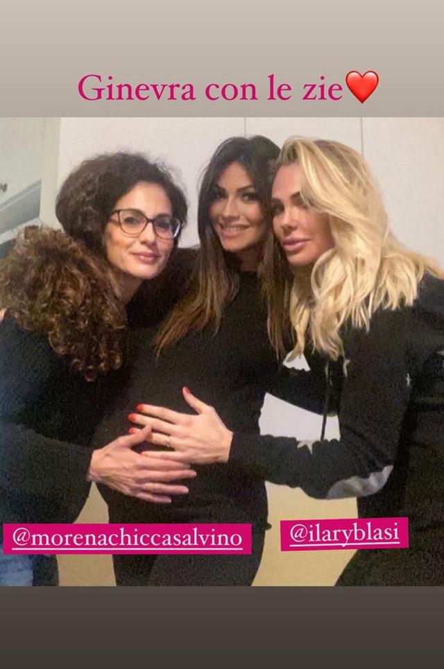Ilary Blasi tenera 'zia': reunion tra Letterine con Alessia Ventura incinta