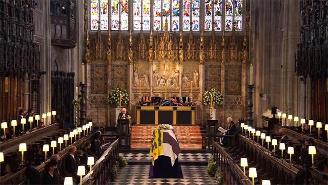 Il funerale nella Cappella di San Giorgio