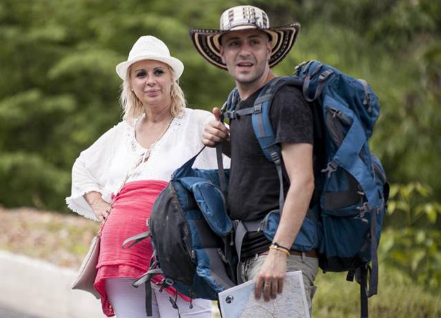 Tina insieme al compagno di avventura e amico Simone Di Matteo: insieme erano 'Gli Spostati'