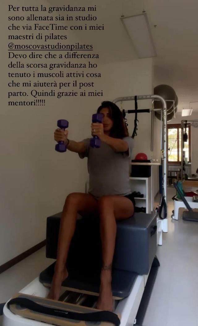 Belen si è allenata per tutta la gravidanza: che disciplina ha fatto e perché