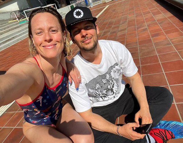 Federica Pellegrini, 32 anni, insieme al fidanzato Matteo Giunta