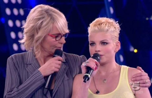 Maria De Filippi, 59 anni, insieme a Emma Marrone, 37, uno dei talenti usciti da 'Amici'