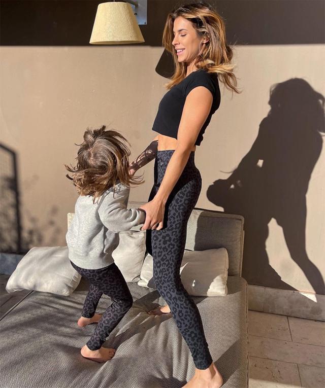 Elisabetta con la figlia Skyler Eva, nata dall'amore con Brian Perri nel 2015