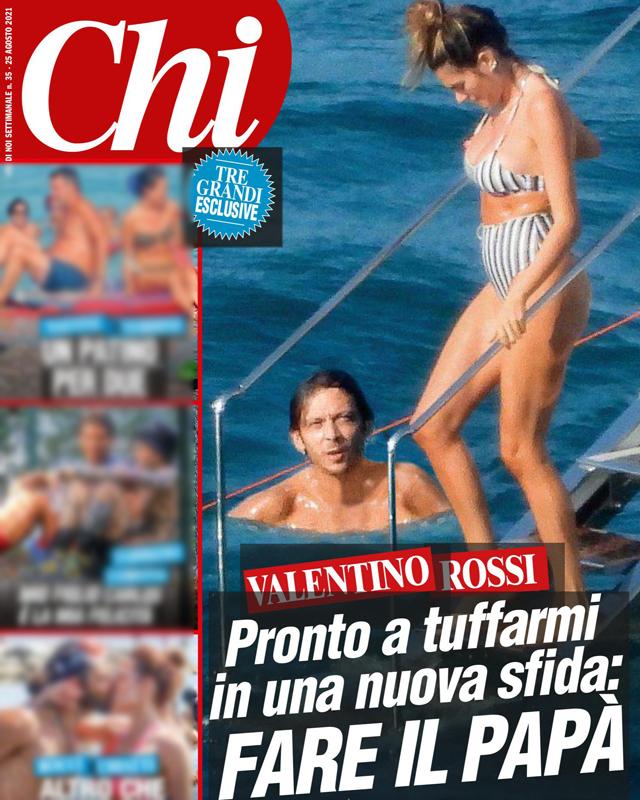 Valentino Rossi e Francesca Sofia Novello, la  prima dolce estate da genitori: foto