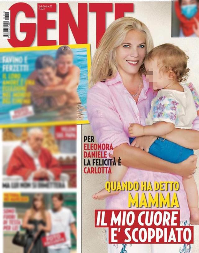 Eleonora Daniele sulla copertina dell'ultimo numero di 'Gente'