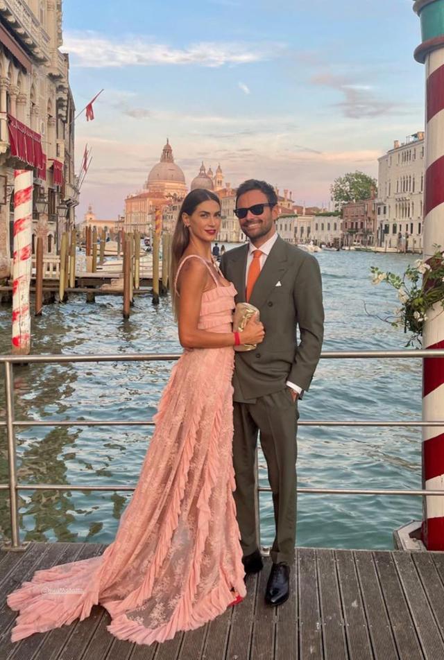 Melissa Satta con il nuovo fidanzato Mattia Rivetti a Venezia: nozze in famiglia
