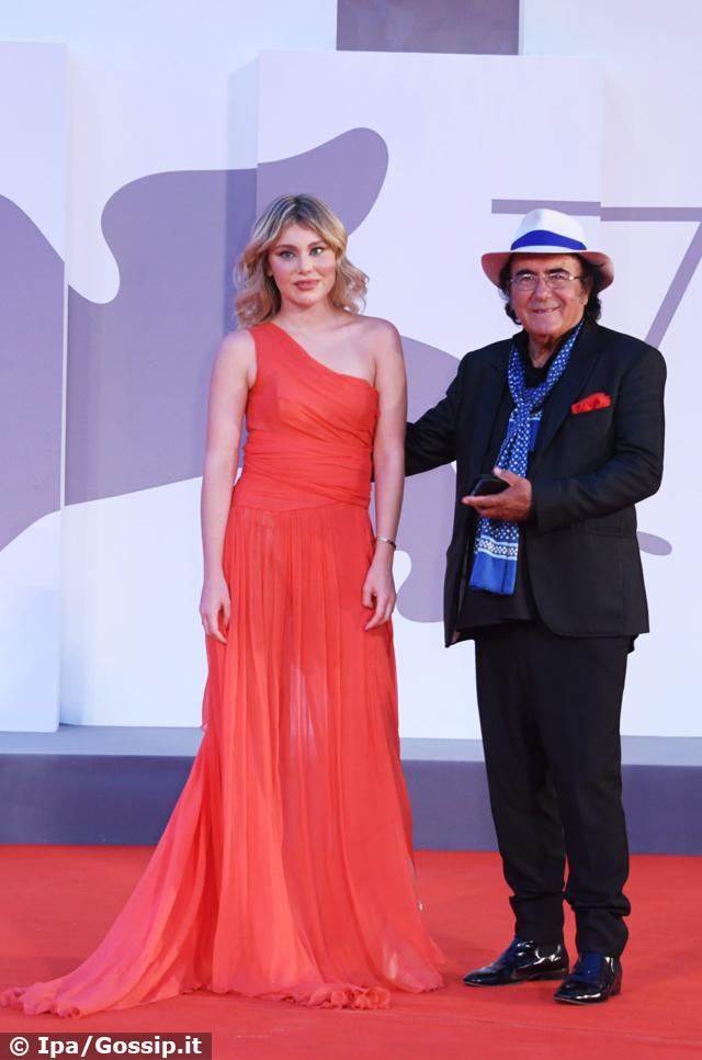 Jasmine Carrisi, la figlia di Al Bano e Loredana Lecciso, diva a Venezia 78: sul red carpet col papà