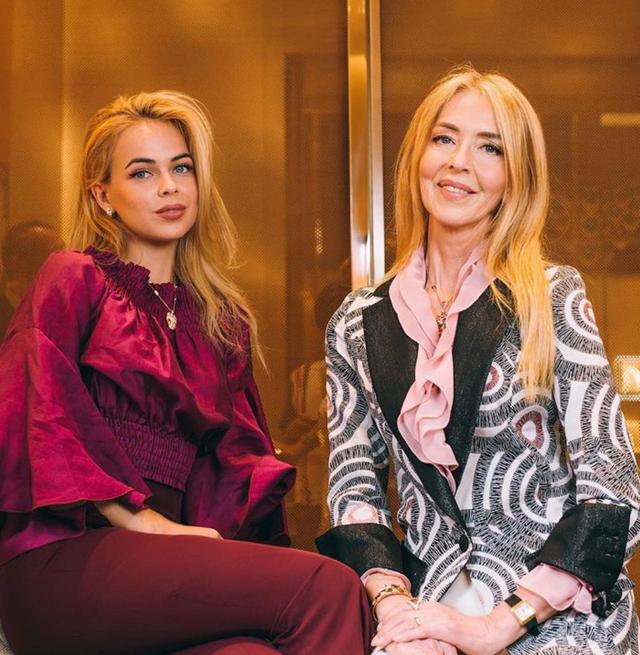 Drusilla Gucci, 27 anni, insieme alla madre Stefania Gucci