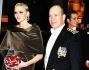 Charlene con il consorte Alberto di Monaco con Pierre Casiraghi, Andrea Casiraghi e Carolina di Monaco