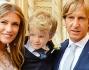 Paola Angelini e Massimo Ambrosini con il figlio Federico dopo la Cerimonia
