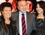 Francesco Caltagirone e la moglie Beatrice Parodi con Carla Fendi e Candido Speroni  all\'anteprima di \'Amici Miei\'