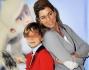 Roberta beta con il figlio Filippo Sebastiano all'anteprima di 'Le Avventure di Fiocco di neve'