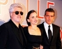 Antonio Banderas con Elena Anaya e Pedro Almodovar alla premiere di \'La pelle che abito\'