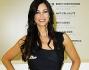 Manuela Arcuri bellissima nel suo abito longuette nero con fantasia champagne