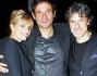 Isabella Ferrari con il marito Renato De Maria e il produttore Gianluca De Marchi della neo nata \'Film Vision\'