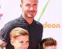 David Beckham con Romeo e Cruz ai Kids' Choice Sports Awards
