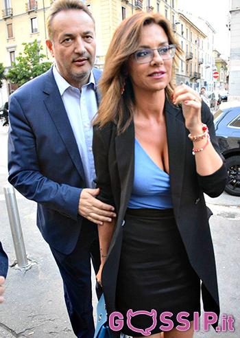 Claudio Brachino con la moglie