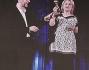 Luciana Littizzetto e Fabio Fazio in collegamento con Fabrizio Frizzi al Premio TV 2014