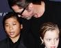Brad Pitt con i figli Pax e Shiloh